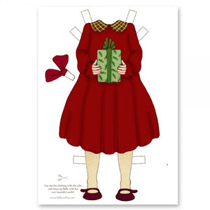 Large Dress Up Belle Outfit - Christmas Dress