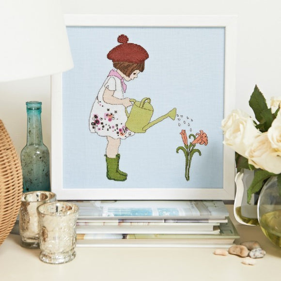 Little Gardener Cross Stitch Pattern