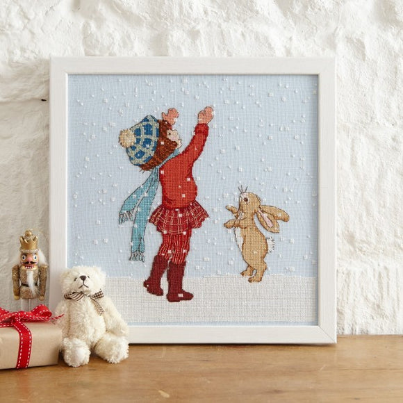 Catching Snow Cross Stitch Pattern