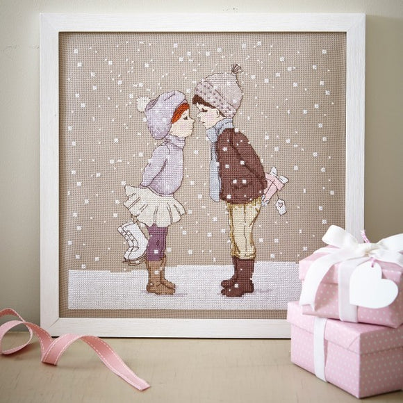 Winter Kiss Cross Stitch Pattern