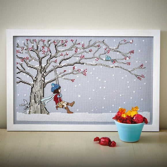 Winter Swing Cross Stitch Pattern