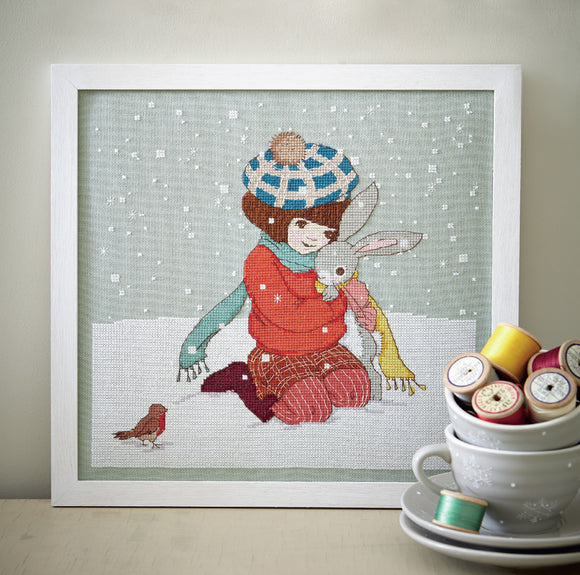 Winter Hug Cross Stitch Pattern