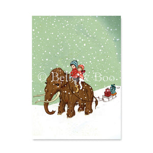 Winter Woolly Postcard