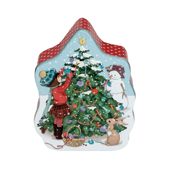 Embossed Christmas Tree Tin