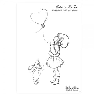 Heart Balloon Colouring In Sheet