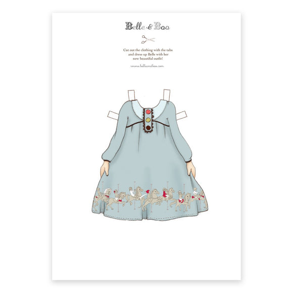 A4 Dress Up Belle Carousel Outfit