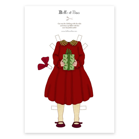 A4 Dress Up Belle Christmas Dress Outfit