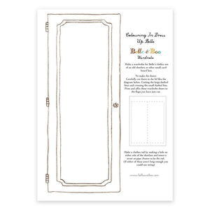 A4 Dress Up Belle Colour In Wardrobe Door