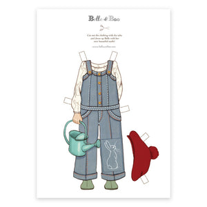 A4 Dress Up Belle Dungarees Outfit