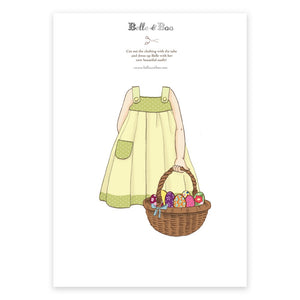 A4 Dress Up Belle Easter Basket Outfit