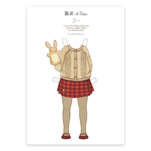 A4 Dress Up Belle Knitted Jumper Outfit
