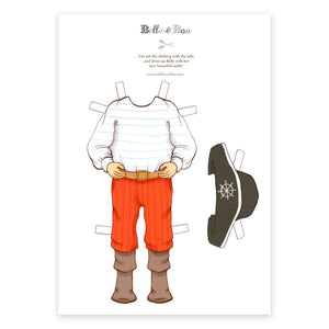A4 Dress Up Belle Fancy Dress Pirate Outfit