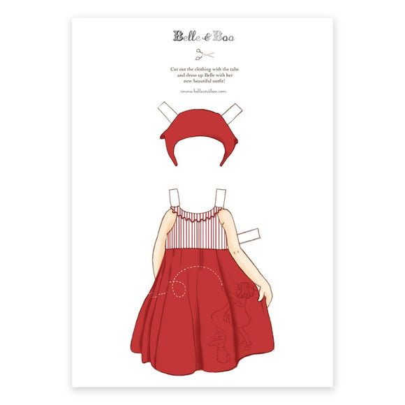 A4 Dress Up Belle Red Kite Dress Outfit