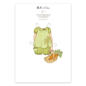 A4 Dress Up Belle Shorts & Carrots Outfit