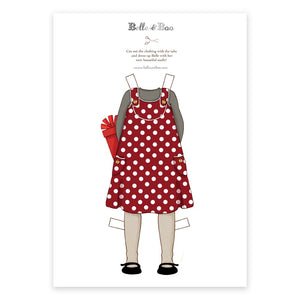 A4 Dress Up Belle Spotty Dress Outfit