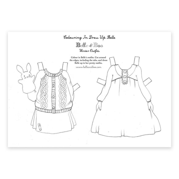 A4 Dress Up Belle Colour In Winter Outfits