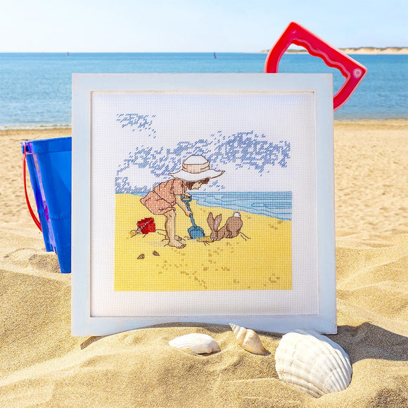 Seaside & Sandcastles Cross Stitch Pattern