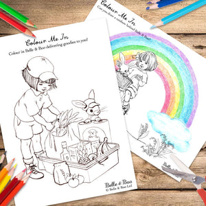 Ride The Rainbow Colouring Kit