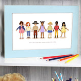 Paper Chain Friends Art Print