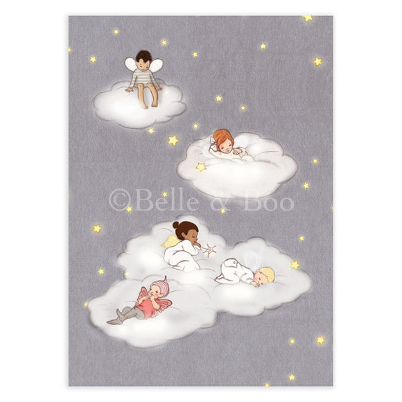 Sleeping Fairies Postcard