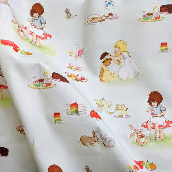 Tea Party Fabric FQ (50cm x 73cm)