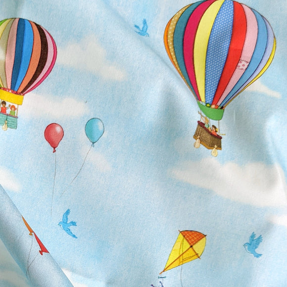 Hot Air Balloon Fabric FQ (50cm x 73cm)