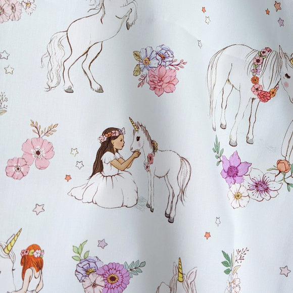 Unicorn Fabric (Blue) FQ (50cm x 73cm)