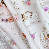 Unicorn Fabric (Pink) FQ (50cm x 73cm)