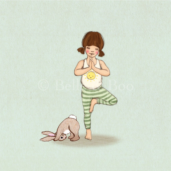 Yoga Pose Art Print