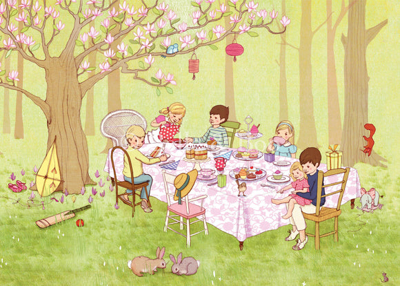 Ava's Tea Party Art Print