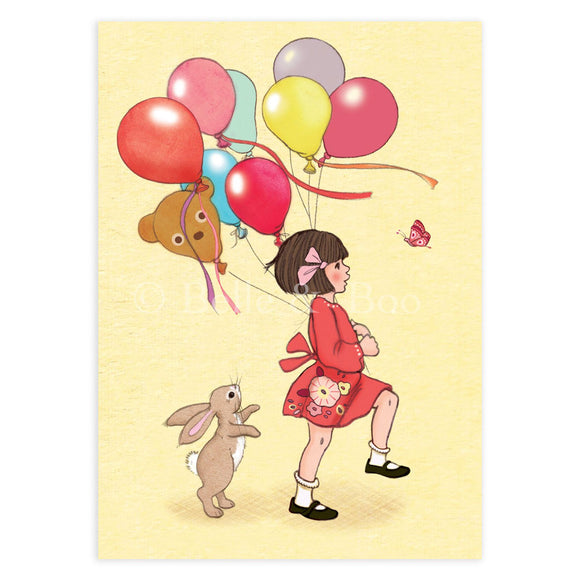 Birthday Balloons Postcard