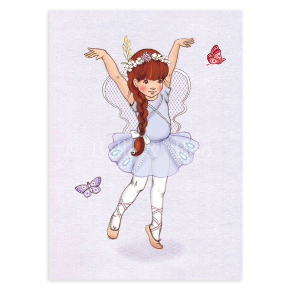 Butterfly Girl  Postcard