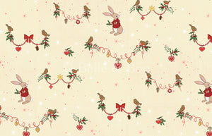 Christmas Robin Fabric