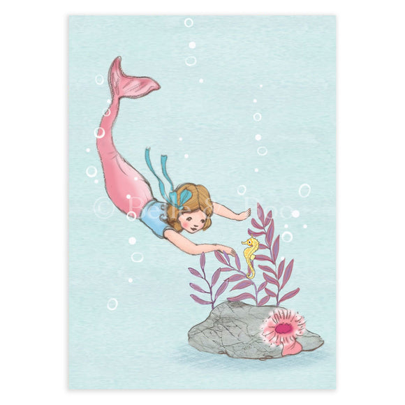 Diving Mermaid Postcard