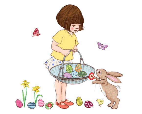 Easter Basket Wall Sticker Decals