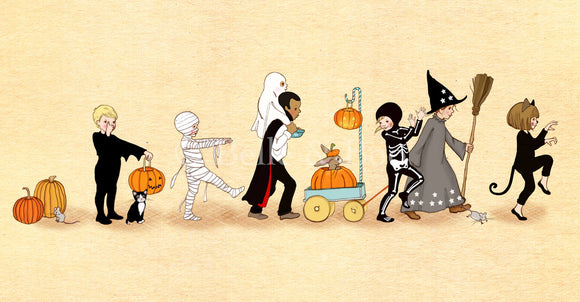 Halloween Parade Art Print