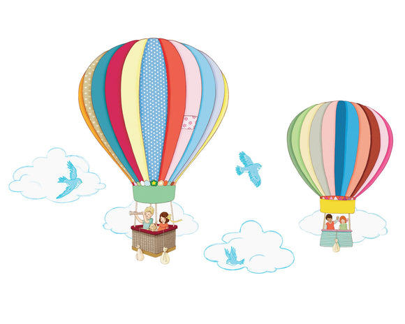 Hot Air Balloon Wall Sticker Decals