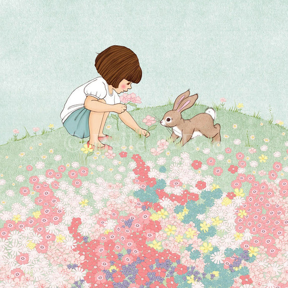 Belle & Boo's Meadow Art Print