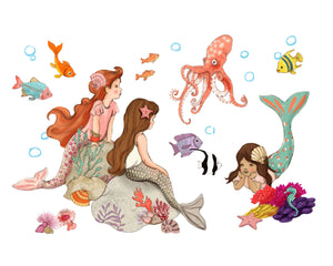 Mermaid Wall Sticker Decals