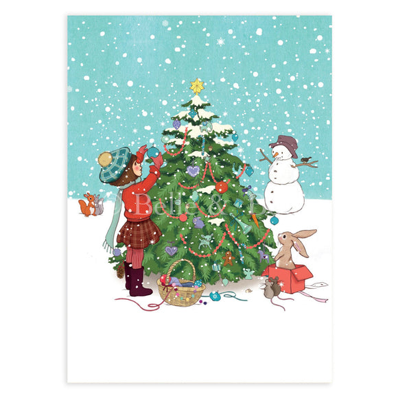 Very Merry Christmas Postcard