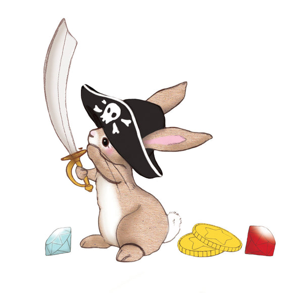 Pirate Boo Wall Sticker Decals