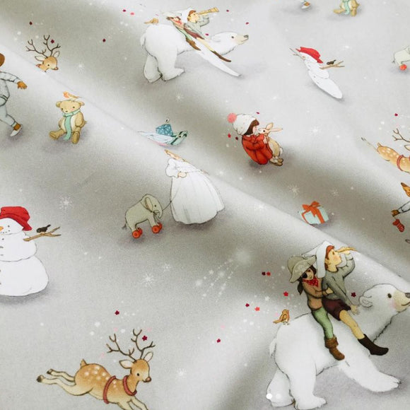 Polar Bear Adventure Fabric FQ (50cm x 73cm)