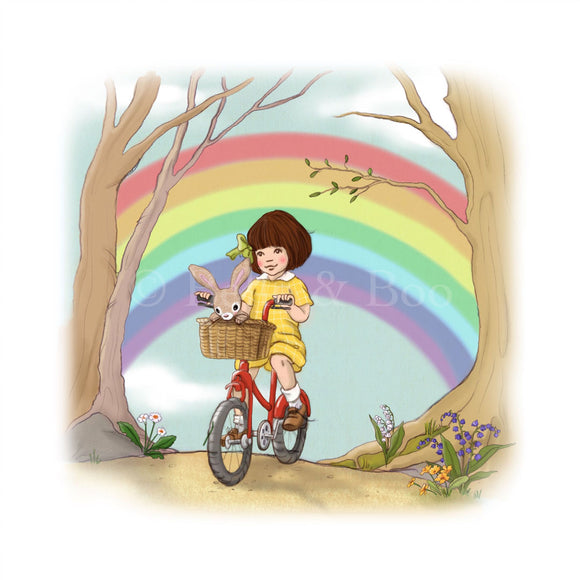 Rainbow Ride Art Print