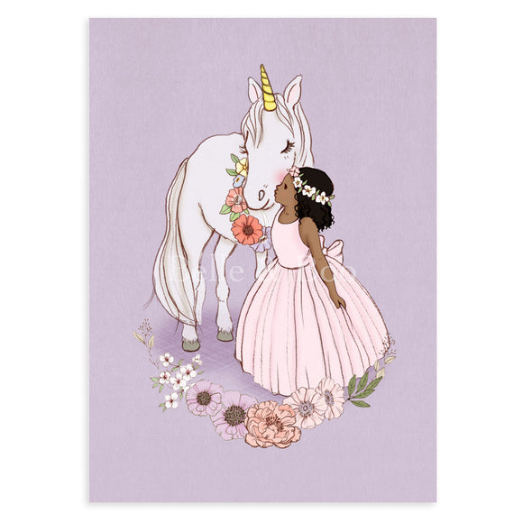 Unicorn Kiss Postcard