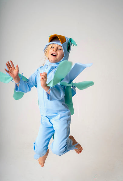 Bluebird costume, bird accessory set, wings, bonnet, tail, cotton