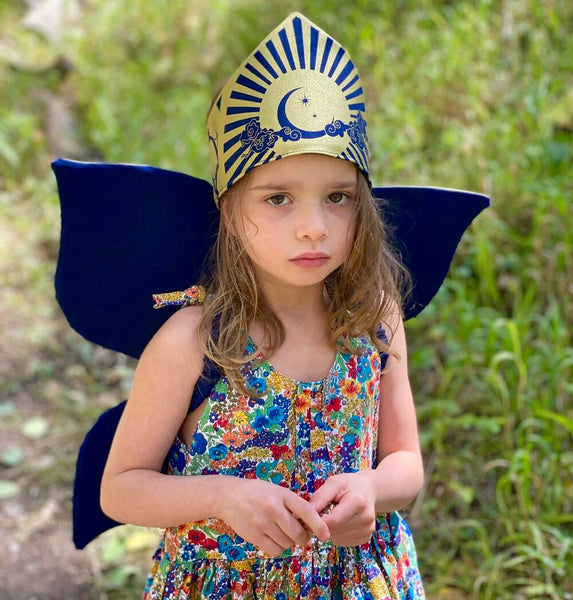 Celestial Fairy Wings - Navy Blue and Gold