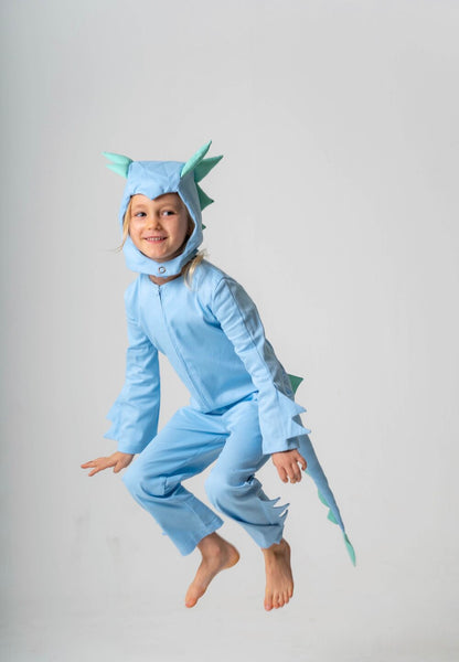 Dragon Tail for Kids Dragon Costume - Ice Blue