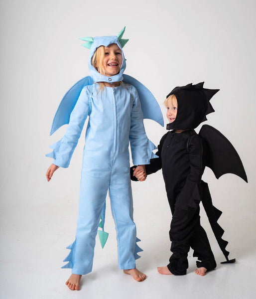 Dragon Hood for Kids Dragon Costume - Ice Blue