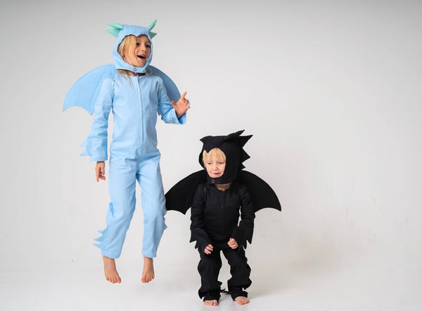 Dragon Wings for Kids Dragon or Bat Costume - Black