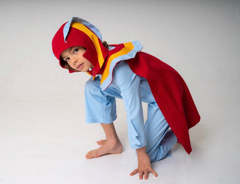 Super Hero Hood for Kids Super Hero Costume - Red, Yellow and Blue